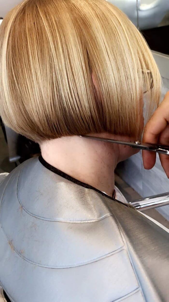 Trendy Short Haircut Womens Hair Styling - Hair Salon Client | Kaplan Atelier - Holland Park Avenue, London